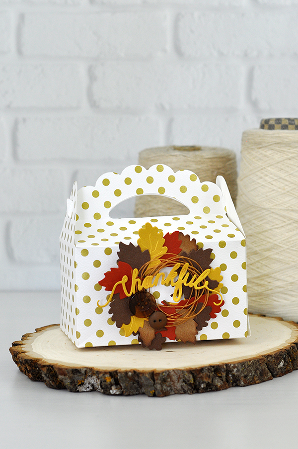 How to Create a Spellbinders Thanksgiving Treat Box