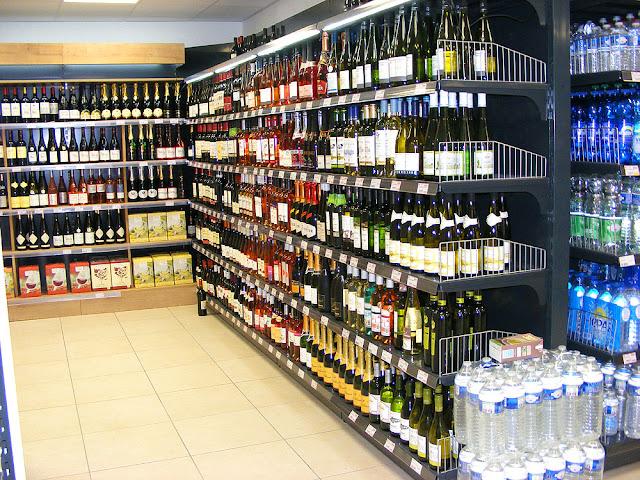 Drinks section, Village corner shop, Indre et Loire, France. Photo by Loire Valley Time Travel.