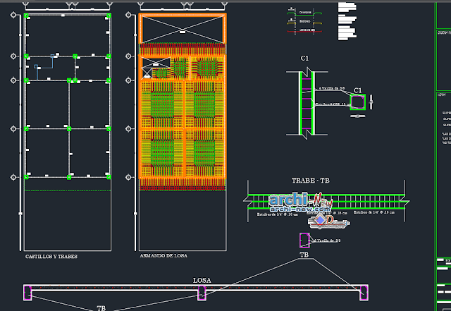 Room two levels house in AutoCAD