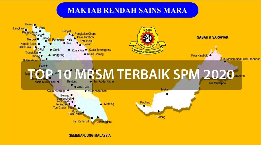 Senarai Top 10 MRSM SPM 2020