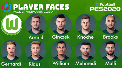 PES 2020 Facepack V3 VFL Wolfsburg by Costa