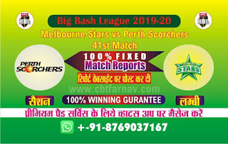 Perth vs Star Big Bash 41st match prediction