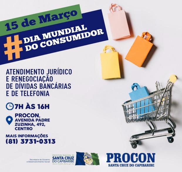 PROCON Santa Cruz do Capibaribe comemora Dia Mundial do Consumidor com serviços ao público