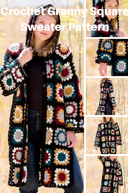Easy to Crochet Granny Square Cardi pattern