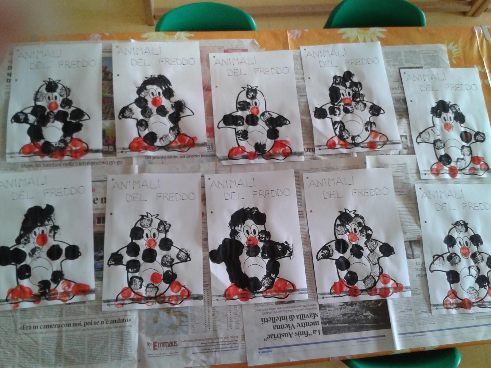 Scuola Materna Don Bosco Belluno Inverno Gli Animali Del Freddo