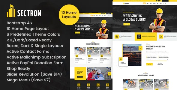 Best Factory Industrial HTML Template
