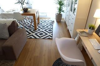 salón comedor y despacho en una estancia