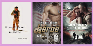 portadas del libro No me dejes ser tu héroe, de Andrea Acosta