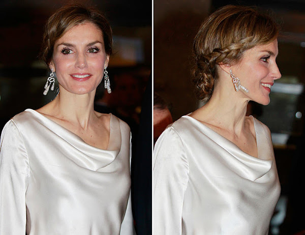 "King Felipe of Spain and Queen Letizia of Spain attended the performance of the opera ""The Public"" at the Royal Theatre"