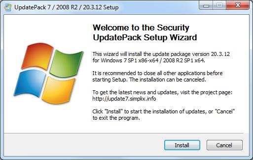 Screenshot Simplix UpdatePack7R2 v20.3.12