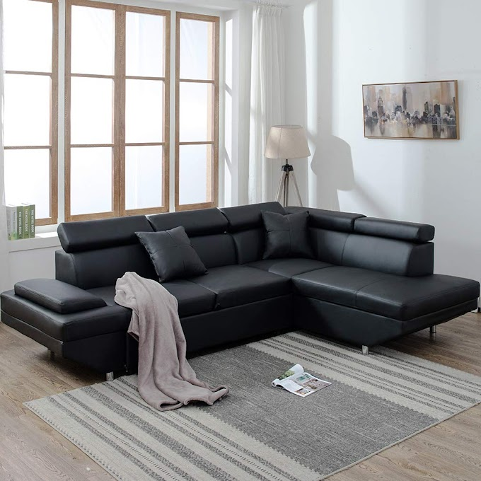 Get Modern Sectional Sofa Bed Leather Best Quality amount $600