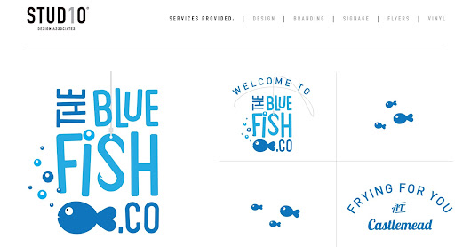 The Blue Fish Co Branding.