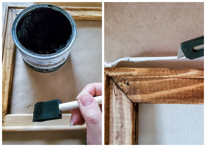 using dark wax to stain wood
