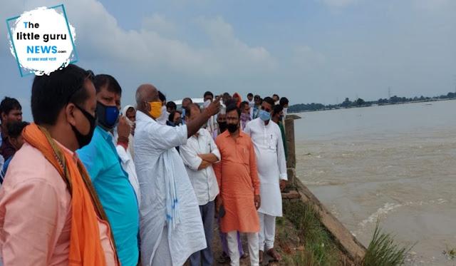 Minister pramod kumar visit flood