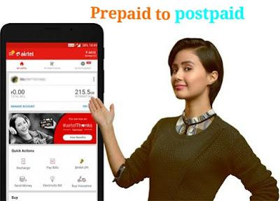 Airtel Prepaid to Postpaid Convert Postpaid to Prepaid Hindi 2020, how to convert airtel prepaid to postpaid