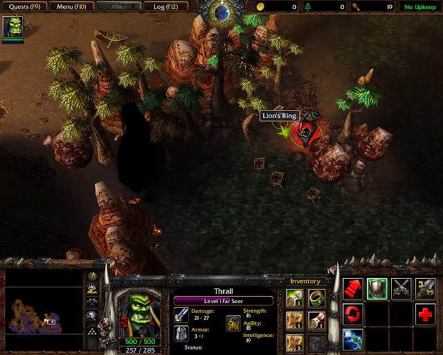 Warcraft 3: Reign of Chaos Landfall Mission 20 Lion's Ring Screenshot