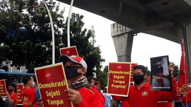 Kecam Gegara Gemar Pukuli Pendemo, GEBRAK: Polisi Pengkianat Reformasi