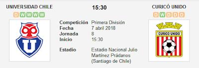 Universidad de Chile vs Curico Unido en VIVO
