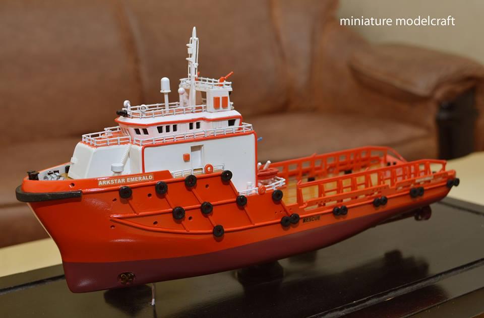miniatur kapal arkstar emerald allianz eagle 1 offshore supply ship ahts anchor handling tug supply dp2 rumpun artwork planet kapal