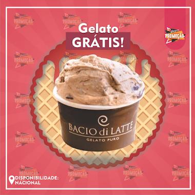 Brindes Grátis - Ganhe um Gelato na Bacio di Latte