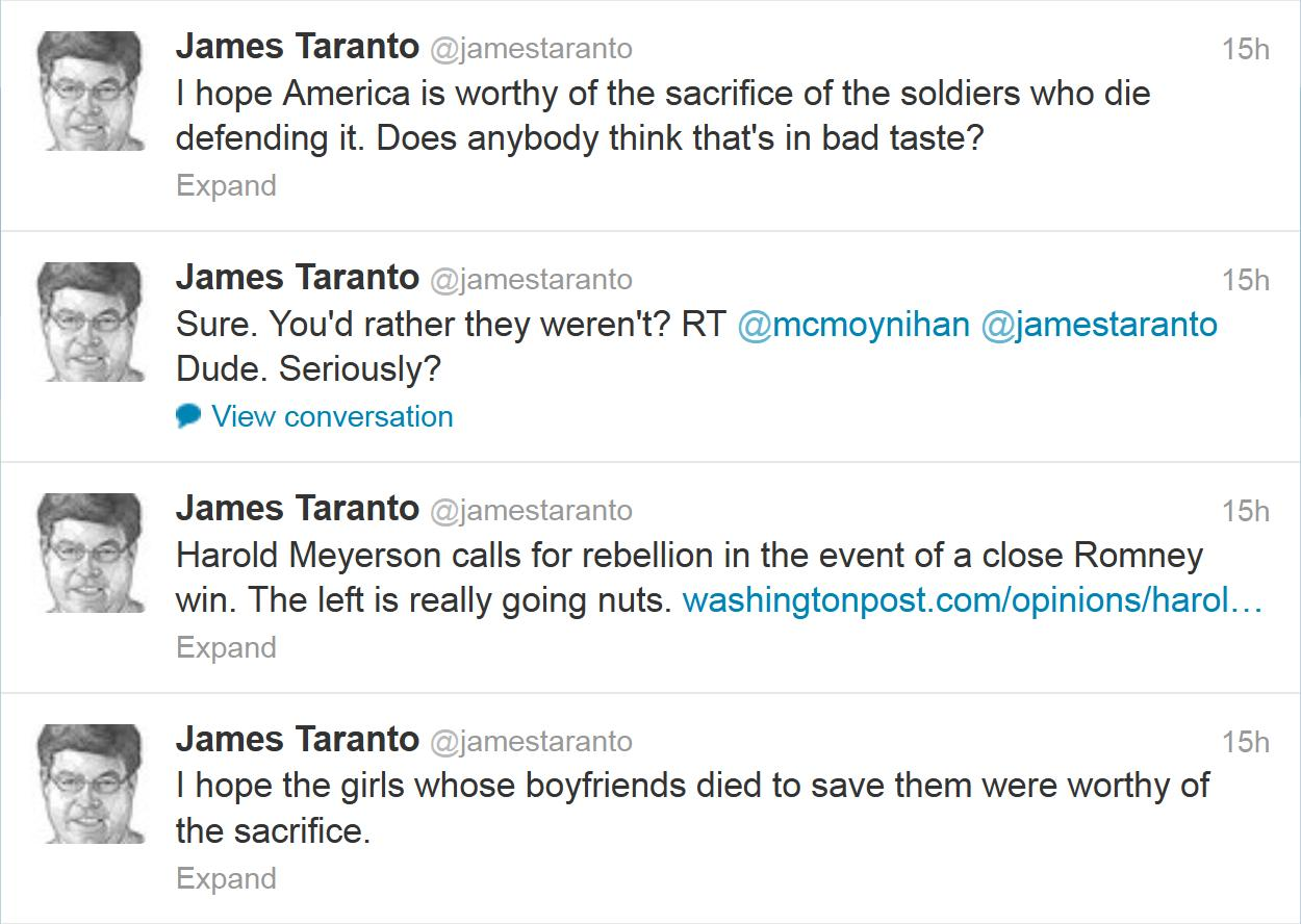 James Taranto is an asshole.