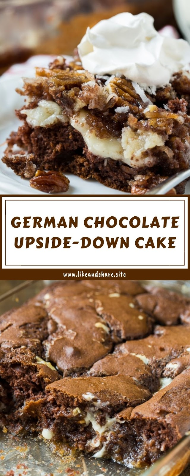 GERMAN CHOCOLATE UPSIDE-DOWN CAKE