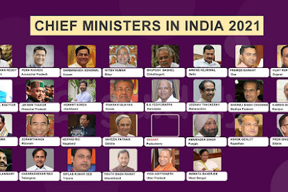 List of State-Capital, Chief Minister and Governor