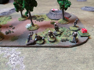 The Lewis section comes under German fire