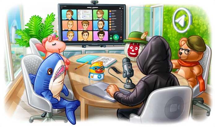 telegram grup video call