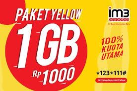 Cara Daftar Paket Yellow paket internet im3 Terbaru