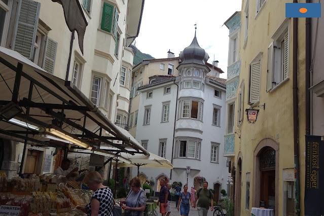 Piazza delle Erbe a Bolzano