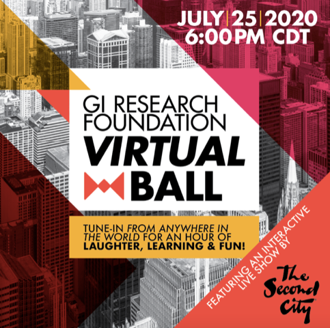 The GI Research Foundation Virtual Ball featuring The Second City is on July 25.