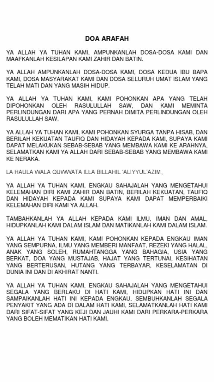 doa arafah
