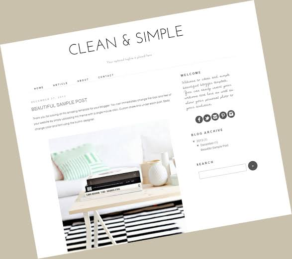 design a blogger blog template