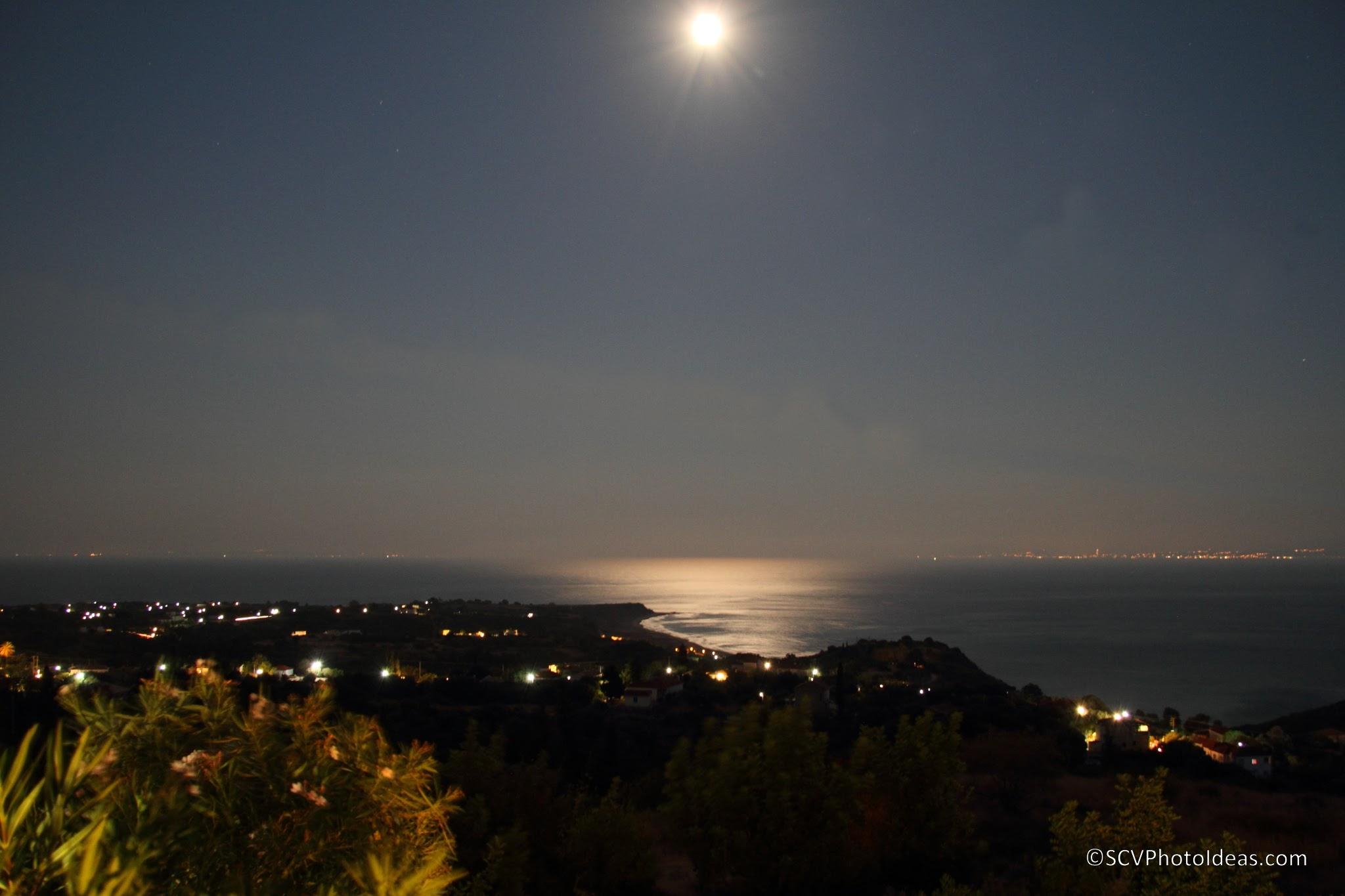 Full moon over cape Mounda, South Cephalonia 2014