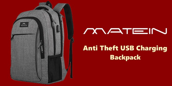 Matein Anti Theft USB Charging Backpack