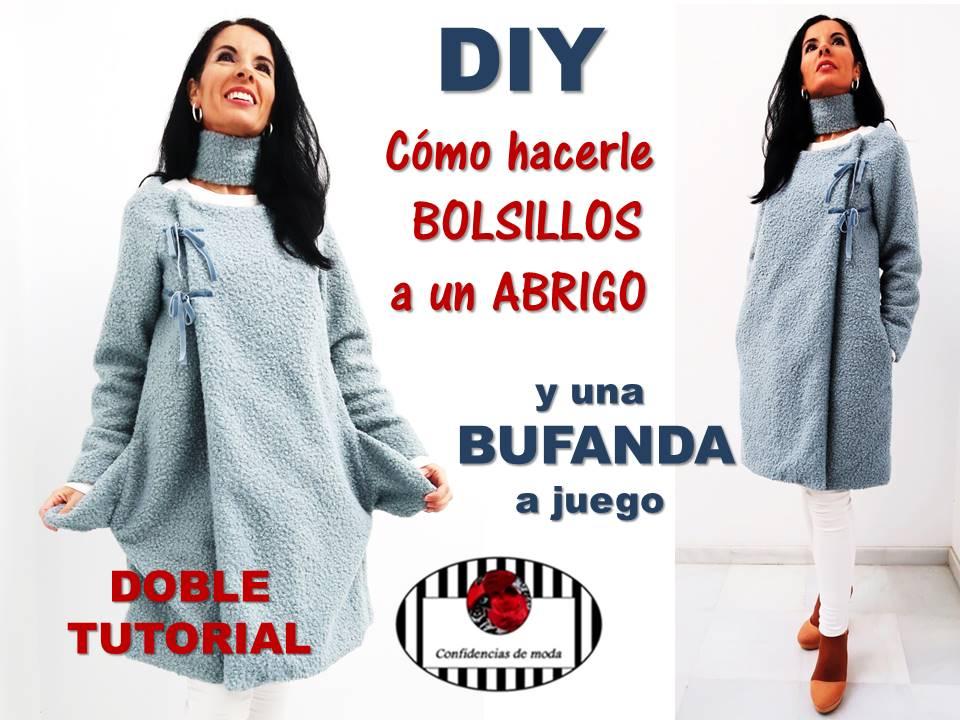 DIY. Cómo hacer bolsillos y un cuello – bufanda a un abrigo ...