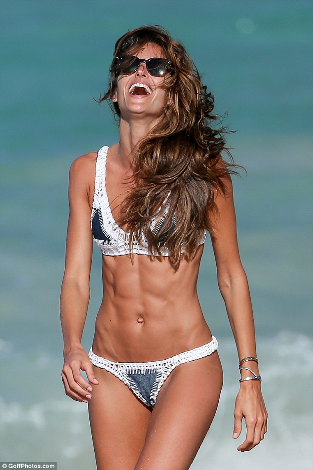 Izabel Goulart bares supermodel physique in tiny crochet bikini in St Barts