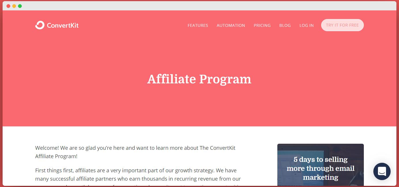 convertkit affiliate