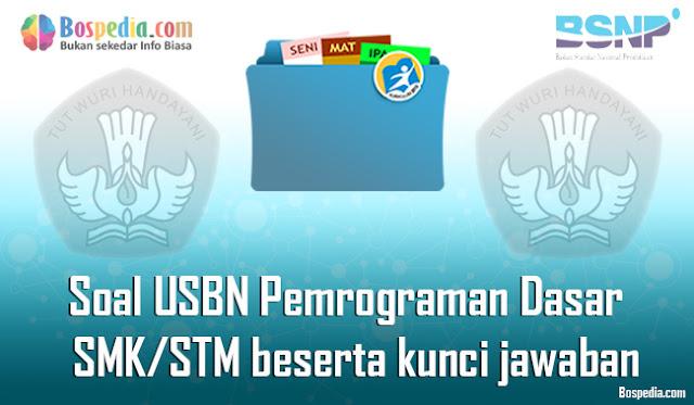 40+ Contoh Soal USBN Pemrograman Dasar Untuk SMK/STM Terbaru 2020 beserta kunci jawaban