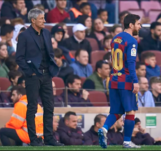 Barcelona coach, Quique Setien hits back at Lionel Messi for saying they can't win the Champions League playing in his style.