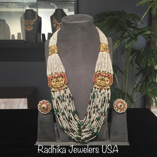 Multi Layers Beads Haram by Radhika Jewellers