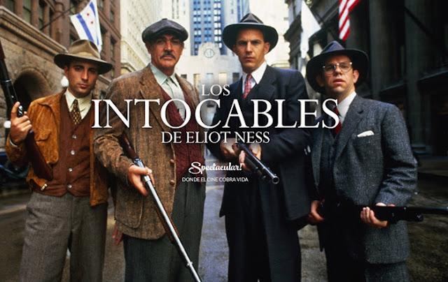 cartel promocional de Spectacular, cine inmersivo, para Los intocables de Elliot Ness