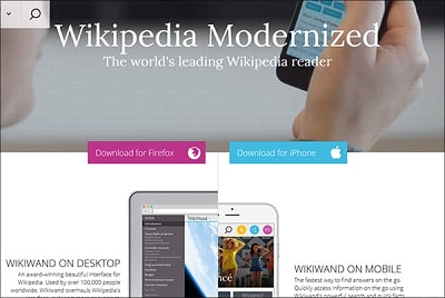 Give Wikipedia vs Wikiwand Modern Web-Base Interface Looks To Be Easy Browsing netkiduniya