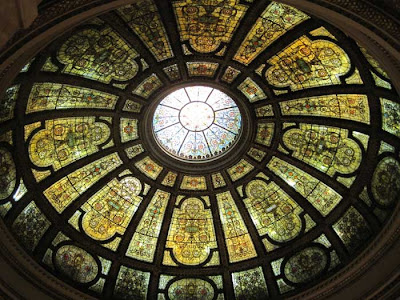 Incredible stained glass rotunda ceiling