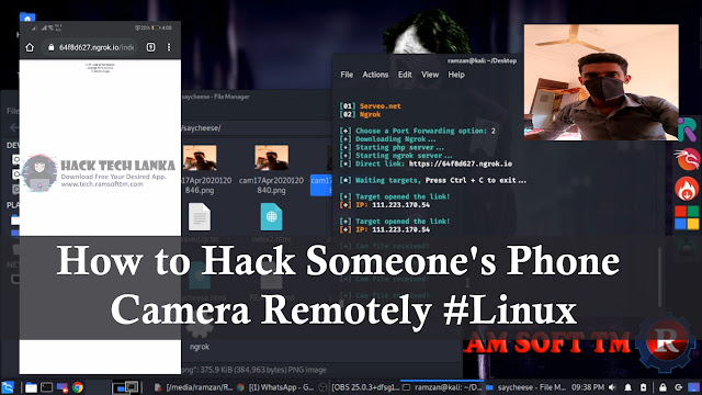How to Hack Someone's Phone Camera Remotely #Linux