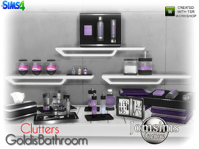Goldis bathroom Goldis ванная комната беспорядок для The Sims 4 14 новых сладких предметов. соль для ванны. ватный горшок. деко зубная щетка набор зубов. деко полотенца для полки, положить на любую полку. мыло для рук коробка Kleenex. manucurie kit.perfume.and 5 продуктов деко беспорядок. Автор: jomsims