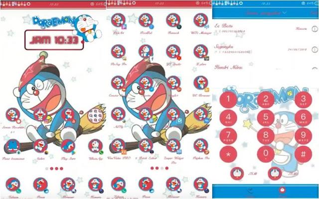 Tema Oppo Doraemon Tembus WA Harry Potter Color OS 800
