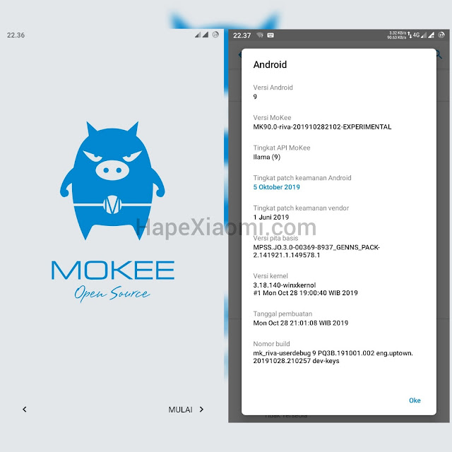 Custom ROM MokeeOS Unofficial Pie for Riva / Redmi 5A