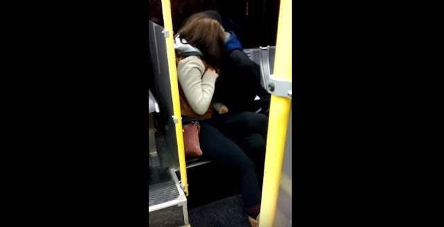 This Couple Was Caught On Camera Making Out Inside The Public Bus! SHocking!